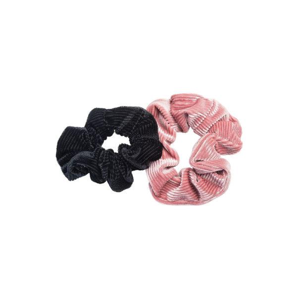 Hiusdonitsi 2 kpl, musta ja vaaleanpunainen hiusdonitsi.