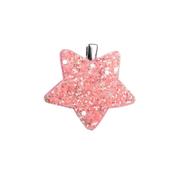 vaaleanpunainen kimaltava glitter-koristeinen koristehiussolki.