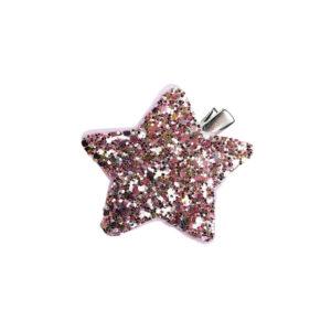 kimaltava glitter-koristeinen koristehiussolki.